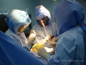 Sterile precautions for knee replacement