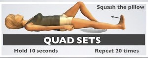 Quadriceps sets