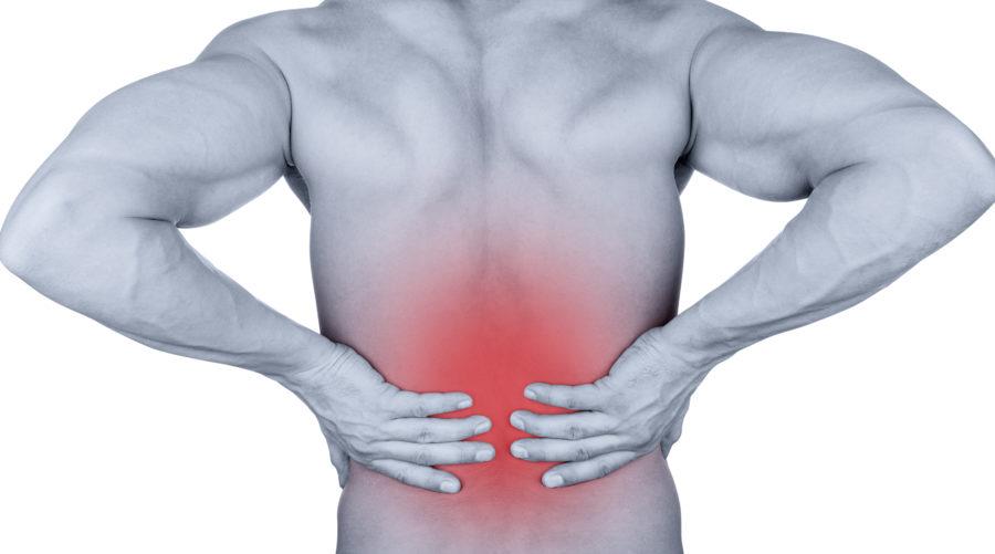 Sudden on set back pain