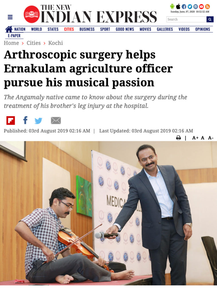 Arthroscopic latarjet procedure for Shoulder dislocation with bone loss, first surgeon to do in South India, Dr Sujit Jos